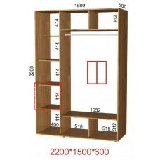 Шкаф-купе ширина 1,1 м высота 2,2 м глубина 0,6 м