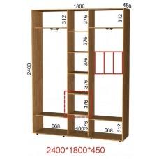 Шкаф-купе ширина 180 см высота 240 см глубина 45 см