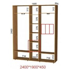 Шкаф-купе ширина 190 см высота 240 см глубина 45 см